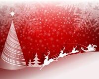 красный цвет света рождества предпосылки волшебный Стоковые Изображения