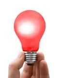 красный цвет светильника руки Стоковые Фотографии RF