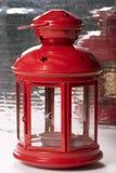 красный цвет светильника Стоковое Изображение