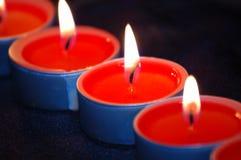 красный цвет свечки светлый Стоковое Изображение RF