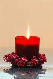 красный цвет свечки Стоковое Изображение