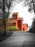 красный цвет сельского дома Стоковая Фотография