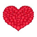 красный цвет сердца большой Стоковые Изображения RF