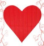 красный цвет сердца бумажный Стоковое Фото