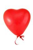 красный цвет сердца воздушного шара Стоковые Фото