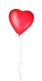 красный цвет сердца воздушного шара Стоковые Фотографии RF