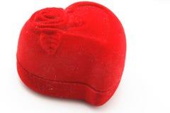 красный цвет сердца коробки Стоковое фото RF