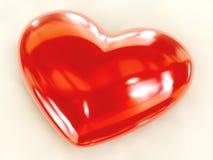 красный цвет сердца огромный Стоковые Изображения