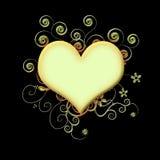 красный цвет сердца предпосылки черный Стоковые Фото