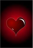 красный цвет сердца предпосылки Стоковое Изображение RF
