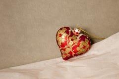 красный цвет сердца рождества Стоковая Фотография RF
