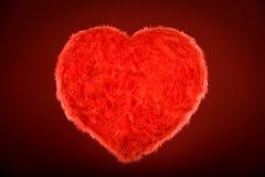 красный цвет сердца светя Стоковое Изображение