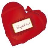 красный цвет сердца смычка Стоковое Фото