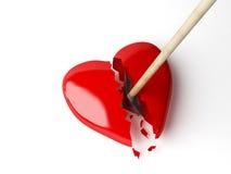 красный цвет сердца стрелки Стоковая Фотография