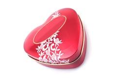 красный цвет сердца формы коробки стоковое фото rf