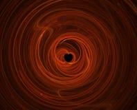 красный цвет сердца фрактали сформировал Стоковое Изображение