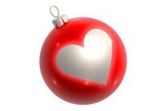 красный цвет сердца яркия блеска шарика иллюстрация вектора