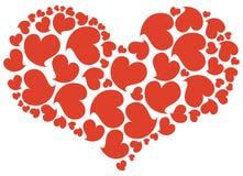 красный цвет сердца Стоковая Фотография