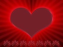 красный цвет сердца Иллюстрация вектора