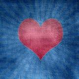 красный цвет сердца Стоковые Изображения