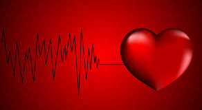 красный цвет сердца Стоковые Изображения RF