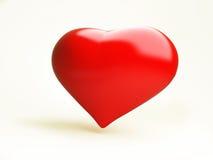 красный цвет сердца Стоковое Изображение