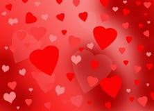 красный цвет сердец розовый Стоковые Изображения RF