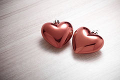 красный цвет 2 сердец Стоковое Изображение RF