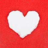 красный цвет сердца бумажный Стоковое фото RF
