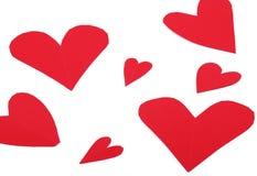 красный цвет сердца бумажный Стоковые Фотографии RF