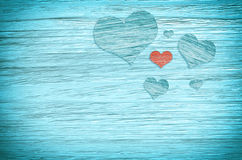 красный цвет сердца предпосылки голубой красный цвет поднял Стоковые Изображения