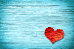 красный цвет сердца предпосылки голубой красный цвет поднял Стоковое фото RF