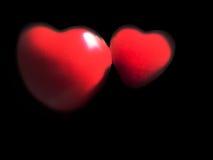 красный цвет сердца предпосылки черный Стоковое Изображение