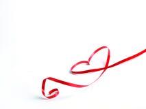 красный цвет сердца смычка Стоковая Фотография RF
