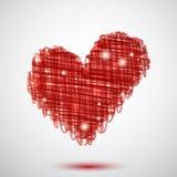 красный цвет сердца Стоковая Фотография RF