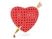 Красный цвет сердца Стоковое Изображение RF