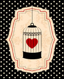 красный цвет сердца birdcages Стоковое фото RF