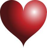 красный цвет сердца 3d Стоковое Изображение