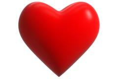 красный цвет сердца 3d Стоковая Фотография