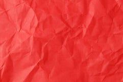 красный цвет скомканный предпосылкой бумажный Стоковые Изображения