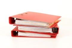 красный цвет скоросшивателя Стоковое Изображение