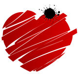 красный цвет сломленного сердца брызнул Стоковые Изображения
