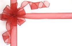 красный цвет смычка Стоковая Фотография