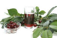 красный цвет сока вишни вишен Стоковые Изображения