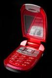 красный цвет сотового телефона Стоковые Изображения