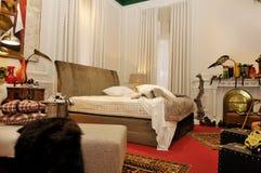 красный цвет спальни Стоковое Фото