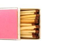 красный цвет спички коробки Стоковые Фото