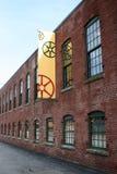 красный цвет стана здания стоковое изображение rf