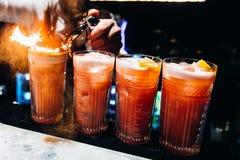красный цвет стекла коктеила Стоковые Фотографии RF