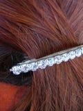 красный цвет стиля причёсок детали стоковое изображение